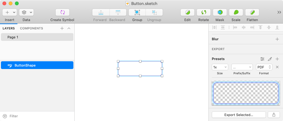 Button Grafik in Sketch erstellen