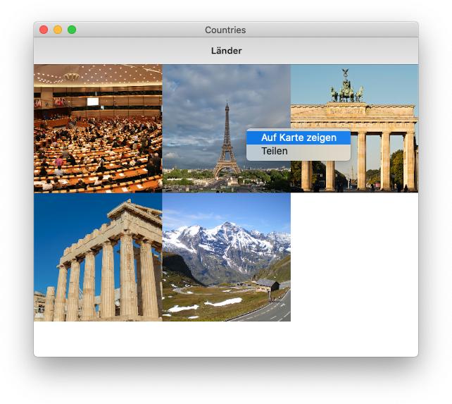 Kontextmenü unter macOS