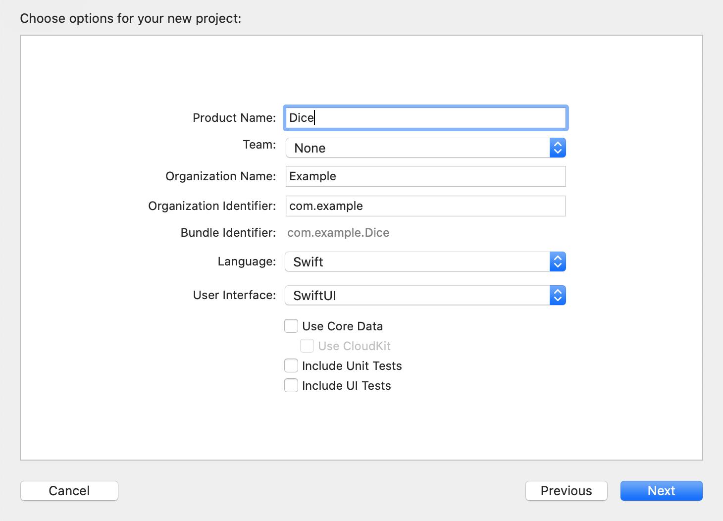 Neues Xcode-Projekt anlegen