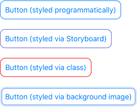 Styled UIButton