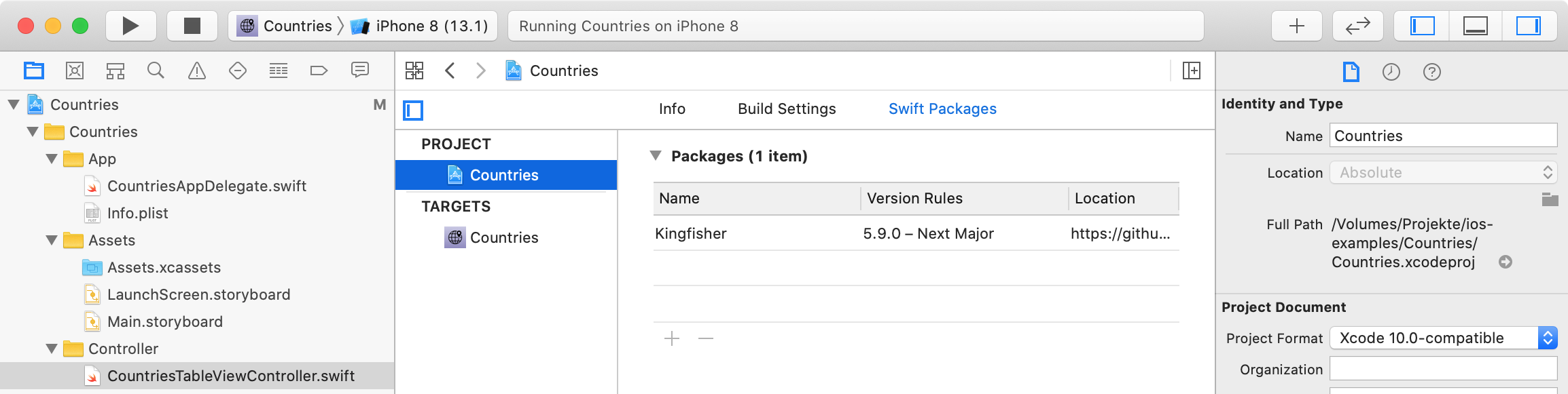 Swift Packages im Xcode-Projekt