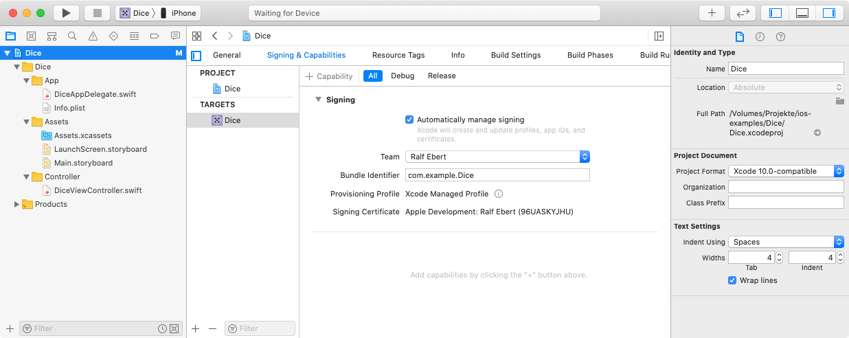 Automatically manage signing